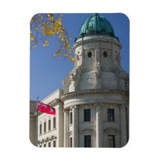 CANADA, Manitoba, Winnipeg: The Law Courts, Rectangular Photo Magnet