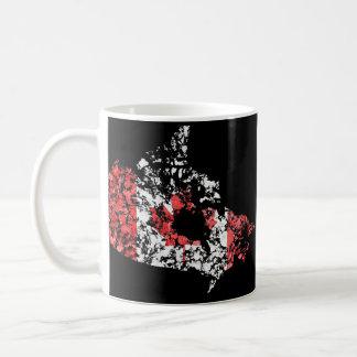 Canada map flag grunge splatter of paint coffee mug