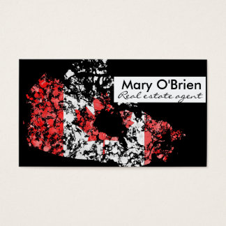 Canadian patriots business cards templates zazzle canada map amp flag patriotic painting modern business card reheart Image collections