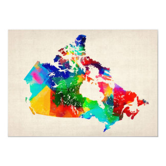 Canada Map Personalised Invites