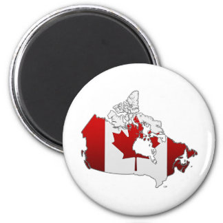 Canada: Map 2 Inch Round Magnet