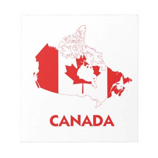 CANADA MAP MEMO NOTE PAD