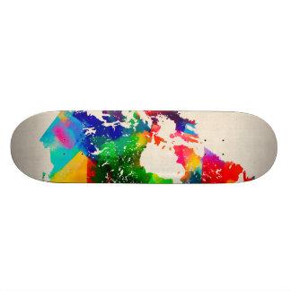 Canada Map Skate Board Decks