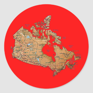 Canada Map Sticker