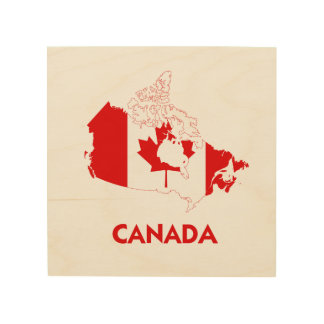 CANADA MAP WOOD CANVASES