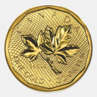 Canada Maple Leaf 1oz Gold (pack of 6/20) Classic Round Sticker