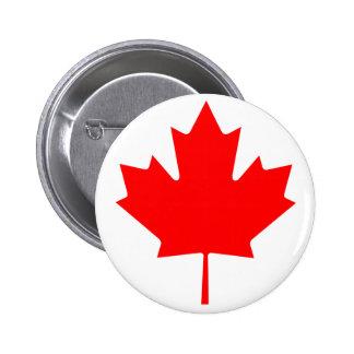 Canada Maple Leaf 2 Inch Round Button