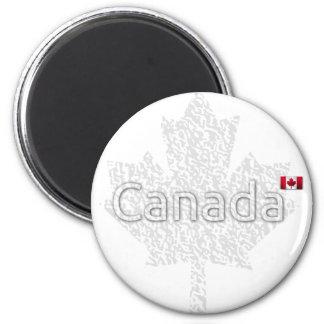 Canada Maple Leaf 2 Inch Round Magnet