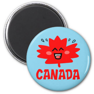 Canada Maple Leaf 2 Inch Round Magnet