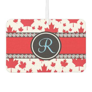 Canada Maple Leaf Abstract Diamond Monogram Air Freshener