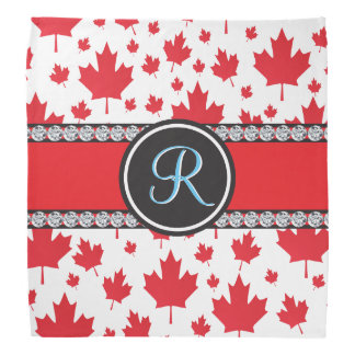 Canada Maple Leaf Abstract Diamond Monogram Bandana