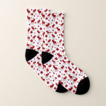 Canada Maple Leaf and Moose Pattern Socks