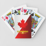 Canada Maple Leaf Bicycle Poker Cards