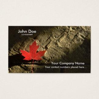 Canada Maple Leaf Business Card