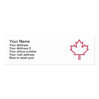 Canada maple leaf business card template