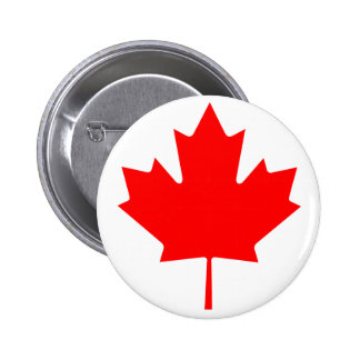 Canada Maple Leaf Button