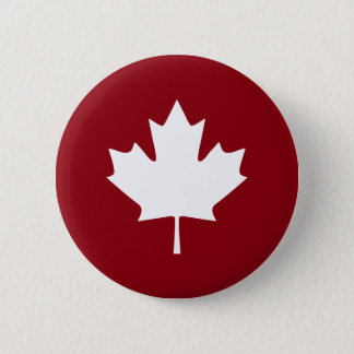 Canada Maple Leaf Button - Reverse Colors