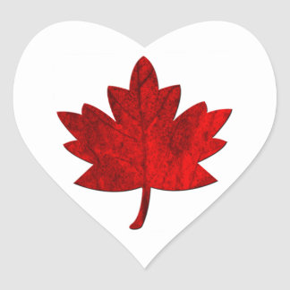 Canada-Maple Leaf by Shirley Taylor Heart Sticker