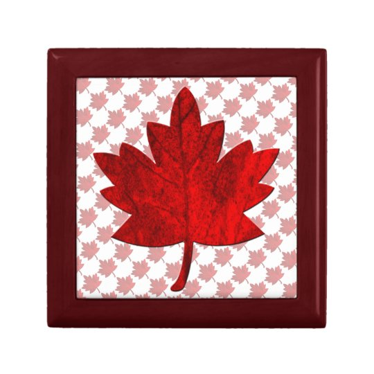Canada-Maple Leaf by Shirley Taylor Keepsake Box
