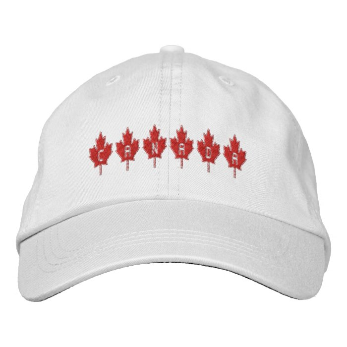 Canada Maple leaf Canadian flag color Cap Embroidered Baseball Caps