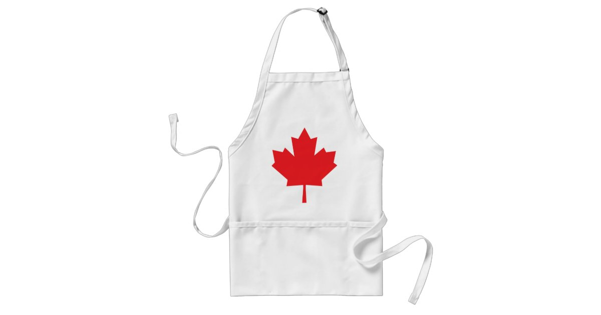 Canada Maple Leaf Canadian Symbol Adult Apron Zazzle