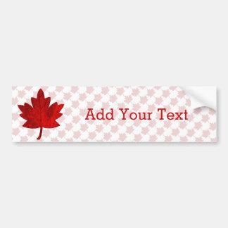 Canada-Maple Leaf Car Bumper Sticker