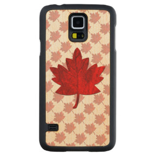 Canada-Maple Leaf Carved Maple Galaxy S5 Case