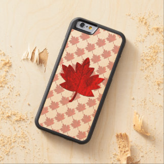Canada-Maple Leaf Carved Maple iPhone 6 Bumper Case
