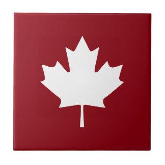 Canada Maple Leaf Ceramic Tile - Reverse Colors