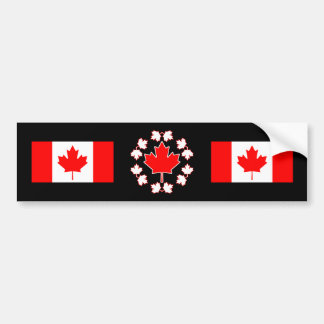 Canada Maple Leaf Circle Design Bumper Sticker