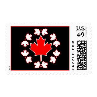 Canada Maple Leaf Circle Design Stamp