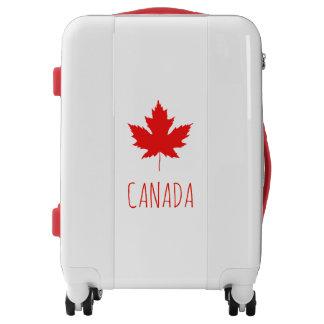 Canada Maple Leaf - Custom Text Luggage