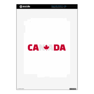 Canada maple leaf decal for the iPad 2