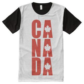 Canada Maple Leaf Designer Canadian Pride All-Over-Print T-Shirt