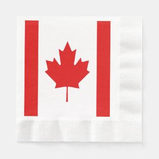 Canada Maple Leaf flag Canadian Napkin