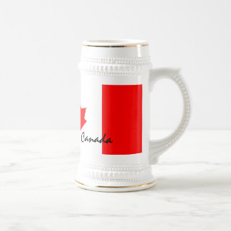 Canada Maple Leaf Flag Colors Beer Stein