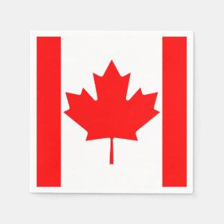 Canada Maple Leaf Flag Colors Paper Napkin