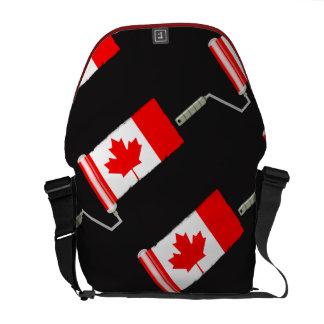 Canada Maple Leaf Flag Paint Roller Courier Bag