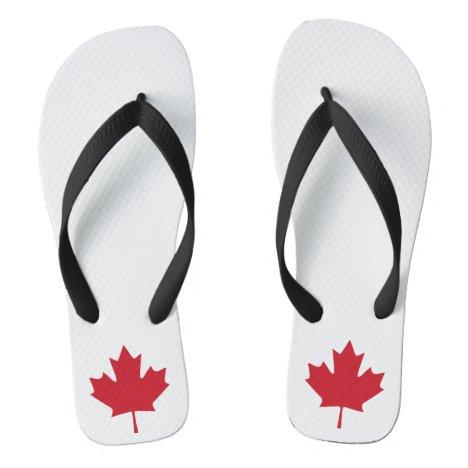 Canada Maple Leaf Flip Flops