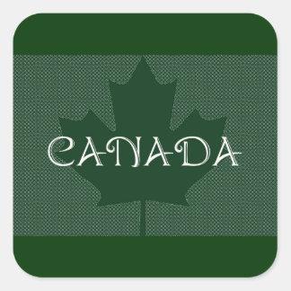 Canada Maple Leaf green, luggage Stickers