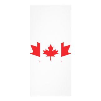 canada maple leaf icon personalized rack card