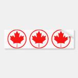 Canada Maple Leaf Inside of a Ring Car Bumper Sticker