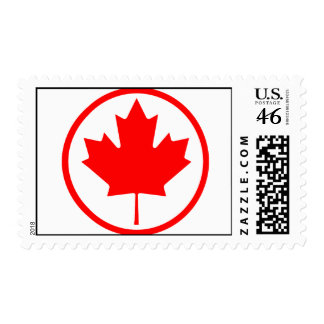 Canada Maple Leaf Inside of a Ring Postage