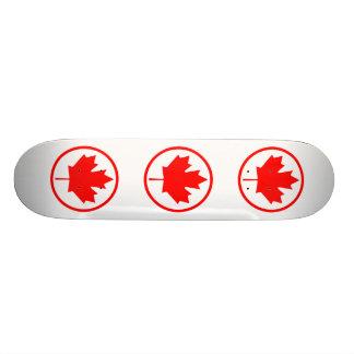 Canada Maple Leaf Inside of a Ring Skate Decks
