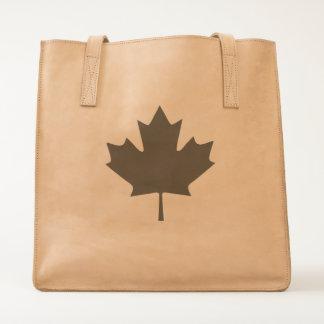 Canada Maple Leaf Leather Tote Bag