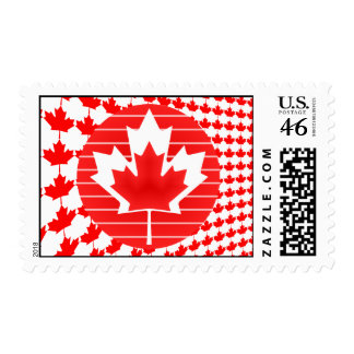 Canada Maple Leaf Lines Postage Stamps