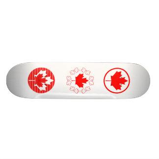Canada Maple Leaf Lines Skateboard