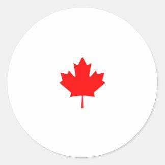 Canada Maple Leaf Logo Classic Round Sticker