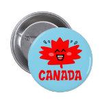 Canada Maple Leaf Pinback Button