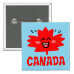 Canada Maple Leaf Pinback Buttons